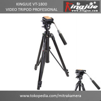 TRIPOD KAMERA | KINGJUE VT-1800 VIDEO TRIPOD PROFESIONAL