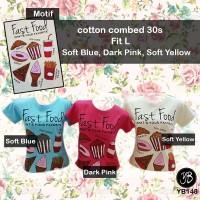 Harga Kaos Tee T  shirt Fashion Kaos Fast Food | WIKIPRICE INDONESIA