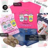 Harga Kaos Tee T  shirt Fashion Kaos Starbucks | WIKIPRICE INDONESIA