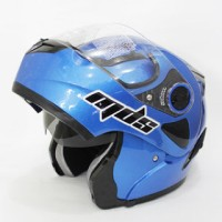 harga HELM MDS PRO RIDER FLIP UP HALF FACE FULL DOUBLE VISOR BLUE Tokopedia.com
