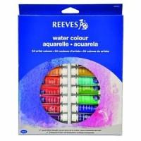 REEVES Watercolor Paint Set 24 Pcs / Cat Air Merk Reeves