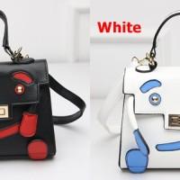 Tas Fashion Korea Import Handbag Slempang Lucu Karakter Boneka Manusia