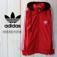 Jacket Parasut Adidas Murah full Merah