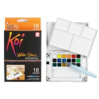 SAKURA Koi Watercolor 18 Colors / Cat Air Koi 18 Warna