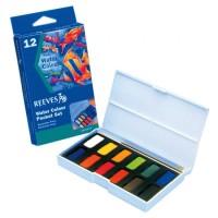 REEVES Watercolor Paint Set 12 Pcs / Cat Watercolour Merk Revees