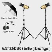 harga Paket Lampu Studio Professional Sonic 300 Tokopedia.com