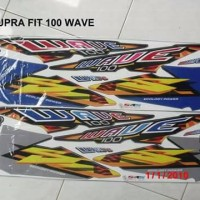 striping motor honda supra wave 100