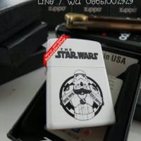 zippo white matte the star wars trooper grade original