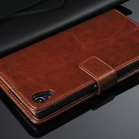 Jual Luxury Wallet Leather Case SONY Xperia Z3 Murah