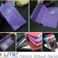 Ume Classic Leather View Flip Book Cover Casing Case Infinix Hot 2