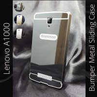 Lenovo A1000 Bumper Metal Case Sliding Cover A 1000 Aksesoris