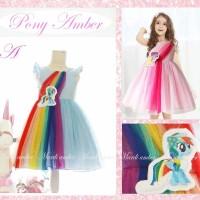 Dress pony amber rainbow kode A (blue)