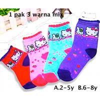 Kaos Kaki Anak / A.2-5y B.6-8y 1 Pak Isi 3 KK Hello Kitty 15136