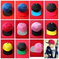 Jual topi anak snapback polos warna warni premium Murah
