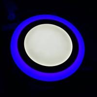 Lampu Downlight List Biru 24W