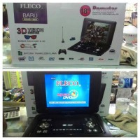 Dvd + Vcd + Tv Portable Fleco 18 In