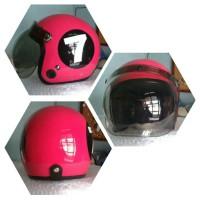 Helm Bogo Retro Klasik HJT Billiard Angka 7 Pink