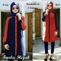 A Furla Hijab kemeja katun rayon