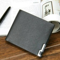 Thin Classic Leather Wallet Men - Black