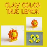 TRUE LEMON COLOR CLAY - LEMON CLAY - ADONAN CLAY - AIR DRY CLAY