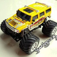 Great Wall Hummer Kuning Proportional Skala 1/24 4WD 2.4GHz