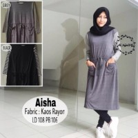 baju atasan lengan panjang wanita hijab fashion aisha murah