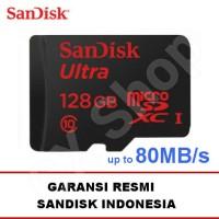 harga SanDisk Ultra MicroSD 128GB 80MB/s microSDXC UHS-I micro sd Class 10 Tokopedia.com