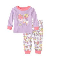 Baju Setelan Tidur / Piyama Anak - Purple Butterflies