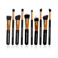 Brush Set Makeup for you - The Basic 10 Rich Black with Gold Bezel