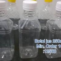 Botol kemasan plastik jus yogurt teh 250ml packaging minuman