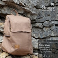 Tas/Backpack Canvas Material Divinces (Circle Beam) Sticky Series