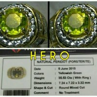 Jual PERIDOT - No Treatment Round Cut - Top Color # BATU NATURAL Murah