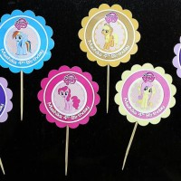 Topper Cupcake dg Nama (Gambar 2sisi)