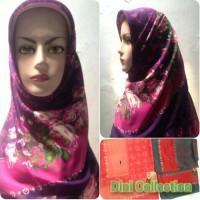 Jilbab Segi Empat Katun Paris Motif Branded LV Bunga