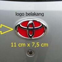emblem belakang logo toyota camry vios old kijang kapsul all new yaris