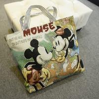 Tas Sling Bag import Korea motif Mickey dan Stitch - FTS007