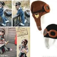 harga Topi Pilot Bayi Anak Coklat Hitam Cute Baby Kids Pilot Hat Black Brown Tokopedia.com