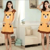 DSLN45 - Dress Brown Bear Cute