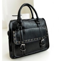 harga 90772 Tas Import Fashion Kerja Hitam Ngantor Satchel Stud Tengkorak Tokopedia.com