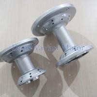 Tromol Set KLX Depan + Belakang 36H Silver