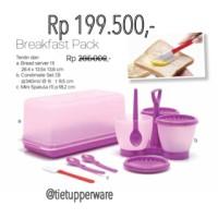 harga Breakfast Set/ Tempat Roti Tawar Dan Selai Tupperware Tokopedia.com