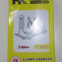 harga Charger pakai aki motor bisa lgs cas dan 3 port USB Tokopedia.com