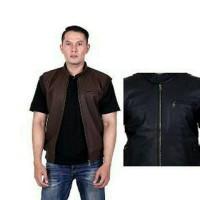 harga jaket motor rompi semi kulit pria ukuran besar xxl / jaket rompi Tokopedia.com
