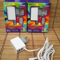 travel charger cashan samsung 3 output (2.1 a) - Panjang kabel 150 cm