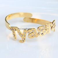 Gelang nama bangle blink gold/Perhiasan nama lapis emas