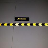 Jual (stiker) sticker safety arrow kuning hitam Murah