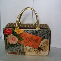 Jual Travel bag/tas travel koper I love Paris kanvas Murah