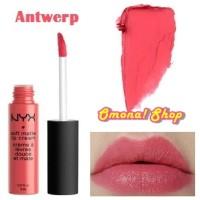 harga Nyx Soft Matte Lip Cream 05 Antwerp Ori Usa Tokopedia.com