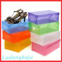 Kotak Sepatu Transparan Warna Warni Transparant Shoes Box Bening Clear