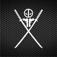 harga Sticker / Stiker Cutting Logo Dead Pool Samurai Tokopedia.com